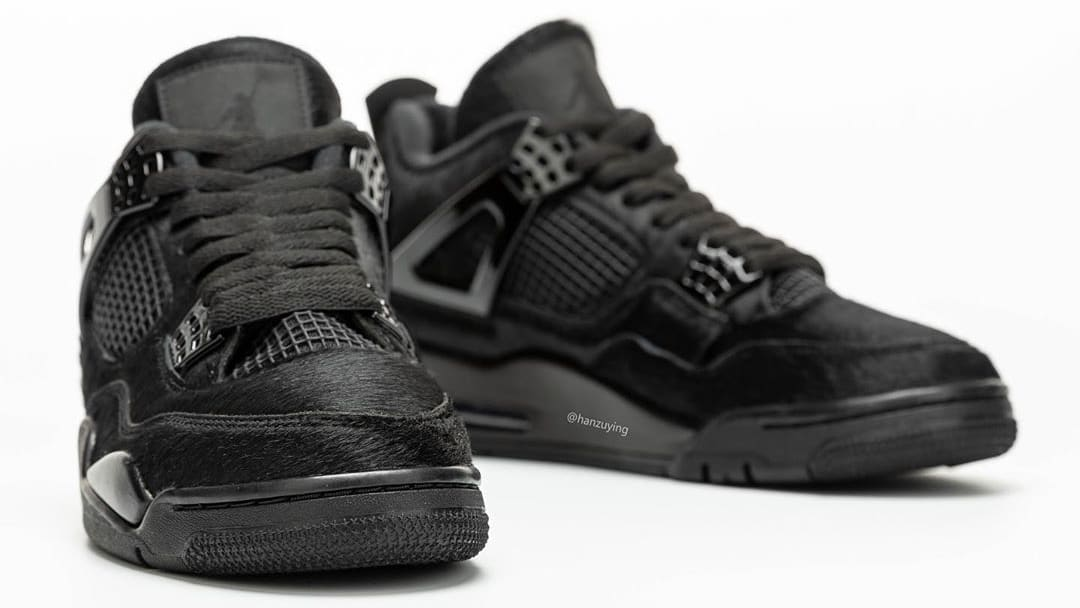 Air Jordan 4 Black Cat Pony Hair Release Date CK2925-001 Front