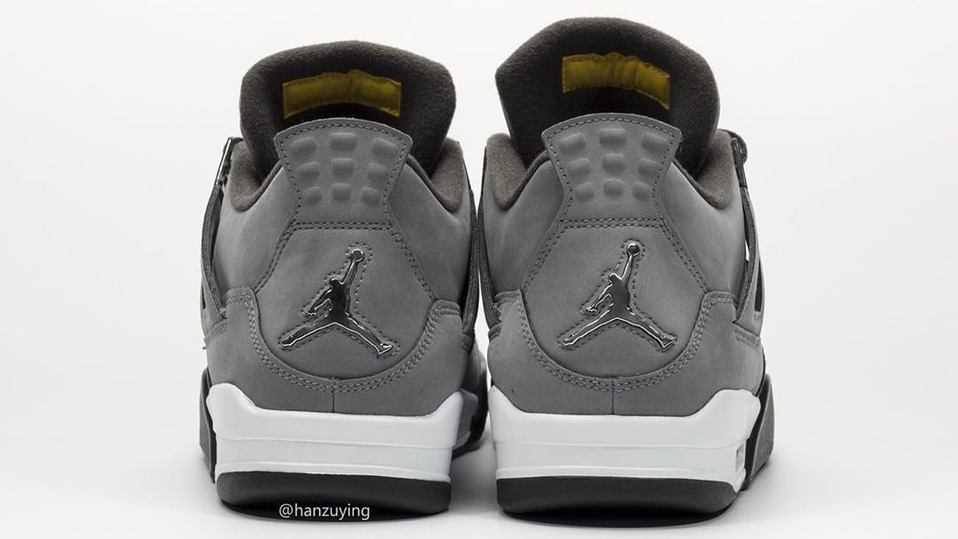 Air Jordan 4 IV Cool Grey 2019 Release Date 308497-007 Heel