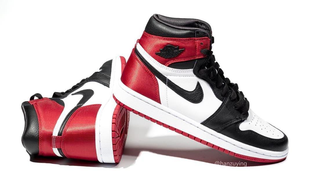 Air Jordan 1 Satin Women's 'Black Toe'