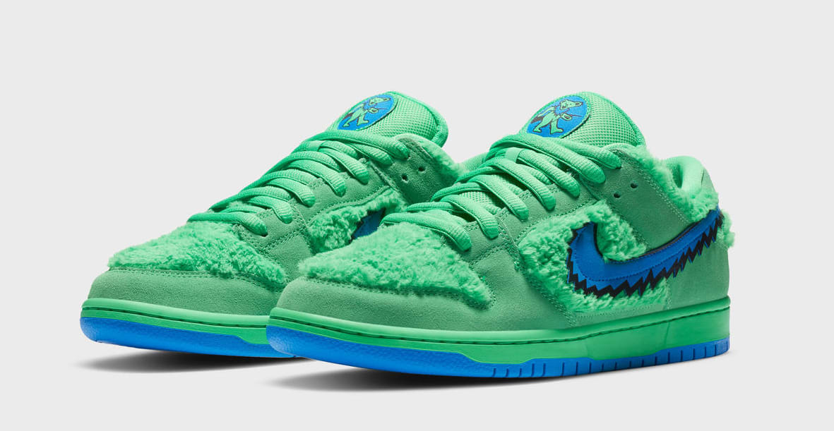 Grateful Dead x Nike SB Dunk Low 'Green' (Pair)