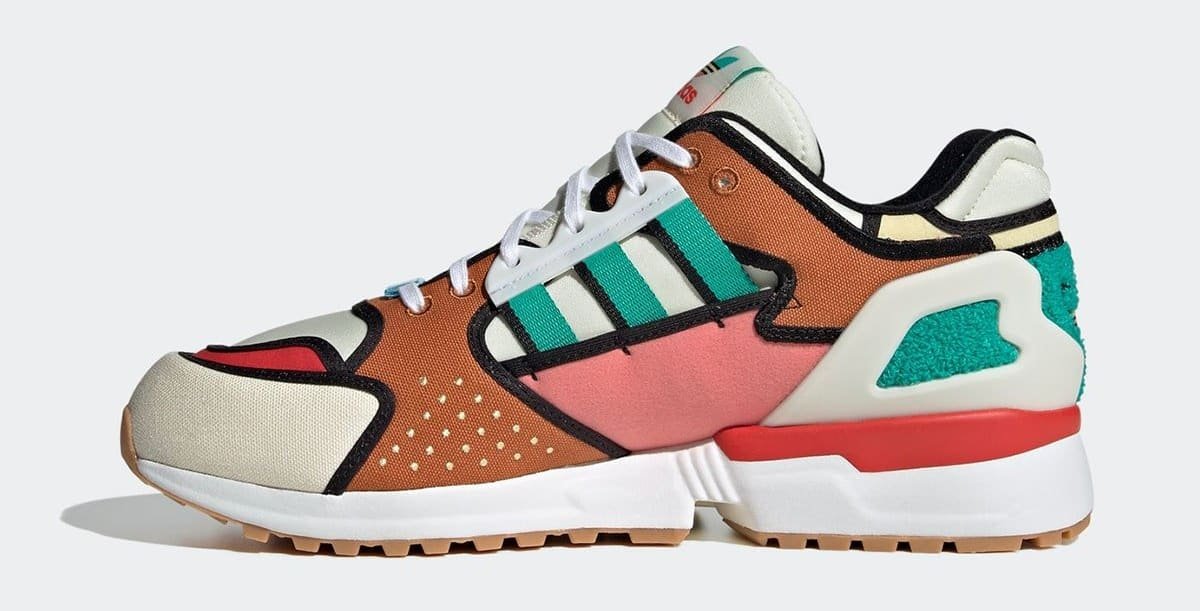 The Simpsons x Adidas ZX 10000 'Krusty Burger' H05783 Medial