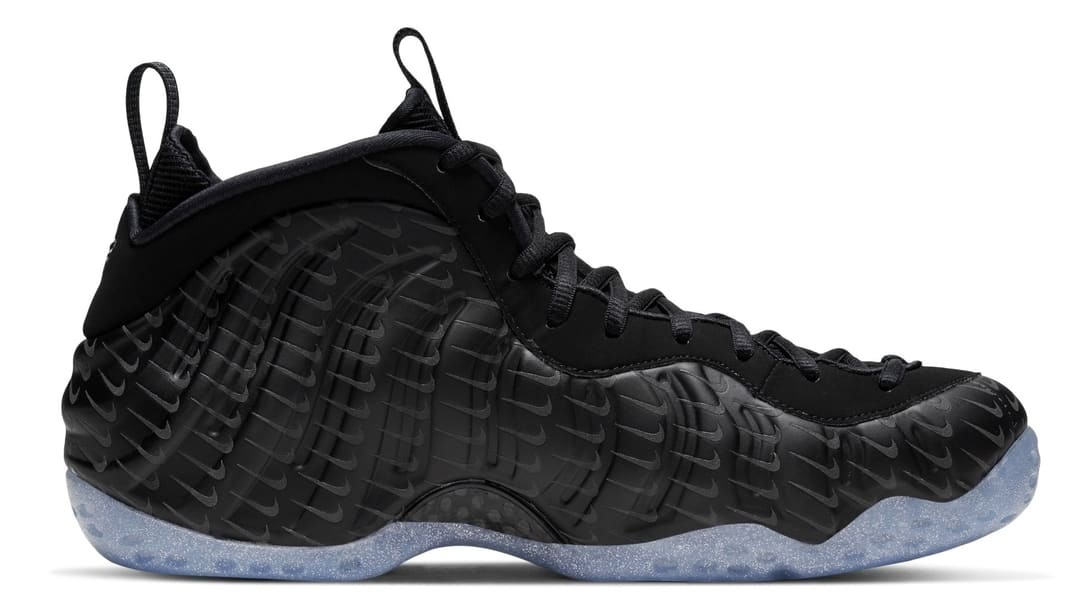 Nike Air Foamposite One Black Swoosh Release Date Medial