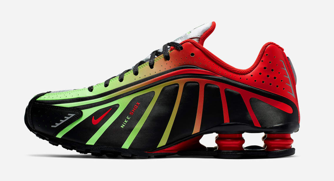 Nike Shox R4 'Neymar/Watermleon' (Lateral)