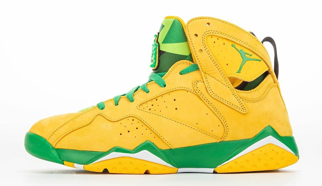 air jordan 7 oregon ducks pe