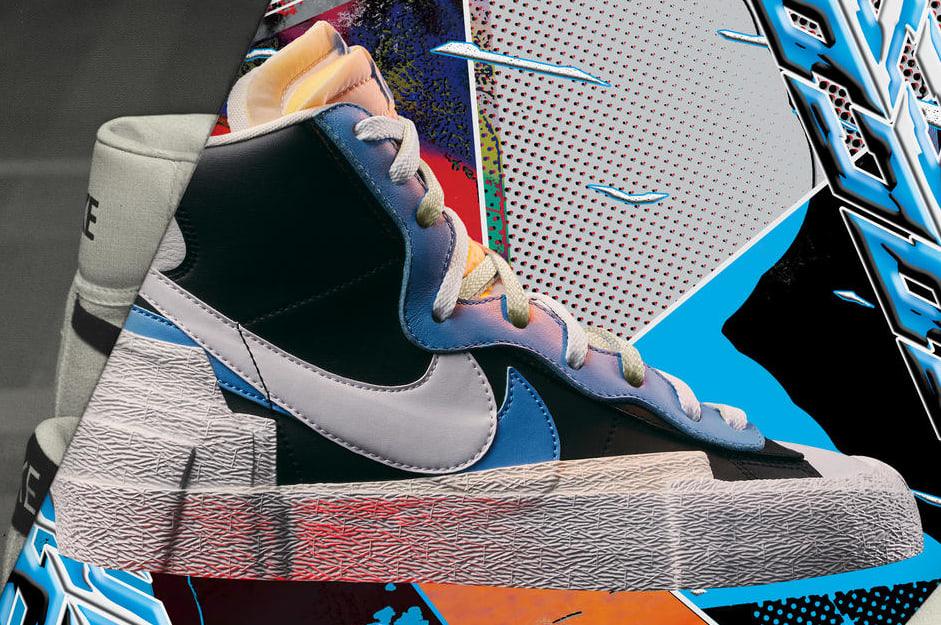 Sacai x Nike Blazer Mid 'Blue'