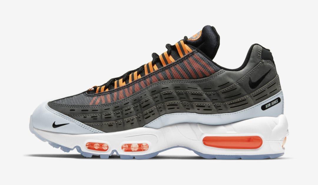 Kim Jones x Nike Air Max 95 'Black/Total Orange' Lateral
