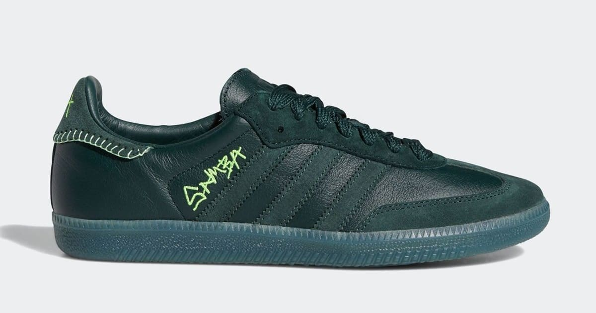 Jonah Hill x Adidas Samba 'Green' FW7458 Lateral