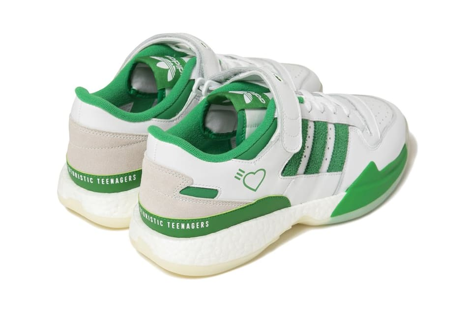 Human Made x Adidas Forum Lo White/Green Heel