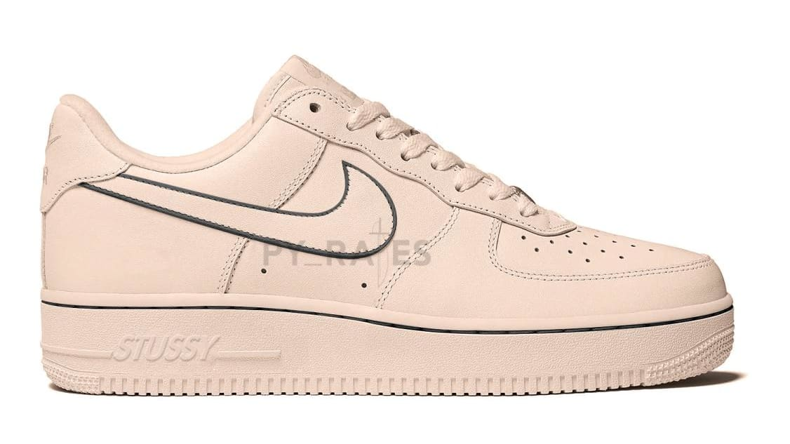 Stussy x Nike Air Force 1 Low 'Fossil Stone' Mock-up