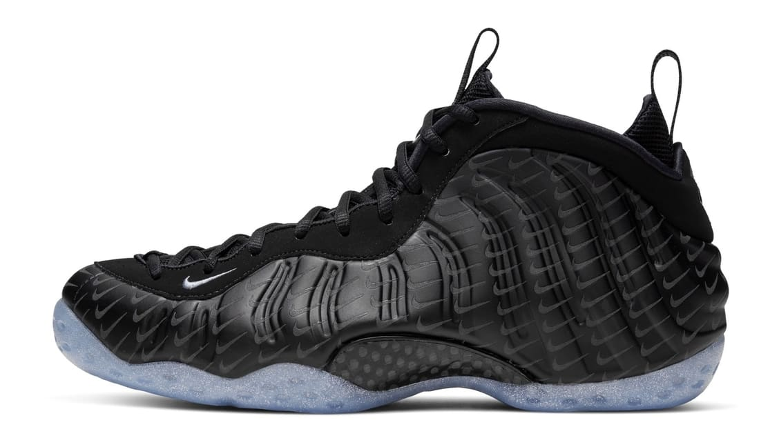 Nike Air Foamposite One Black Swoosh Release Date Profile