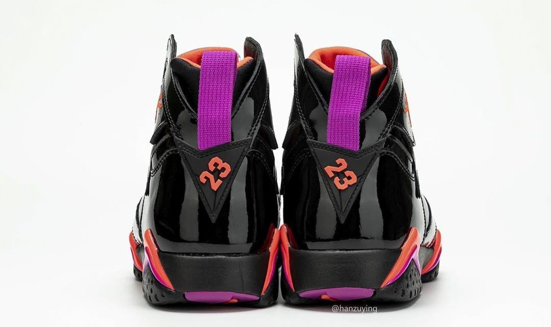 Air Jordan 7 WMNS 'Black Patent Leather' 313358-006 (Heel)