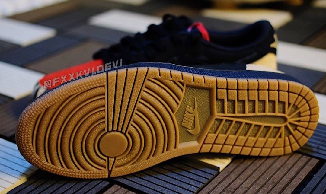 SoleFly x Air Jordan 1 Low Collab (Outsole)