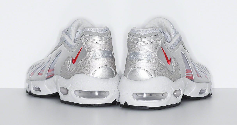 Supreme x Nike Air Max 96 'Silver' Heel