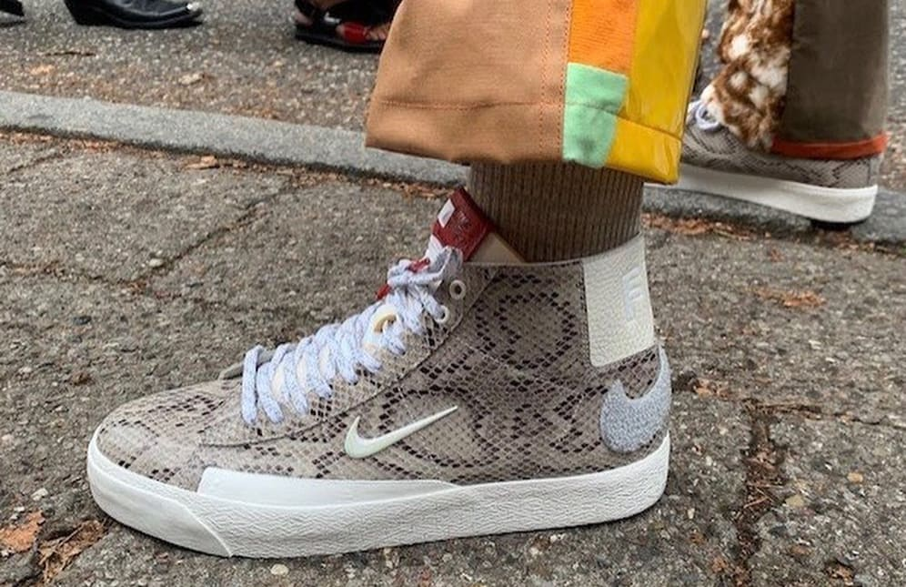 Soulland x Nike SB Blazer Mid 'Snakeskin' First Look Lateral
