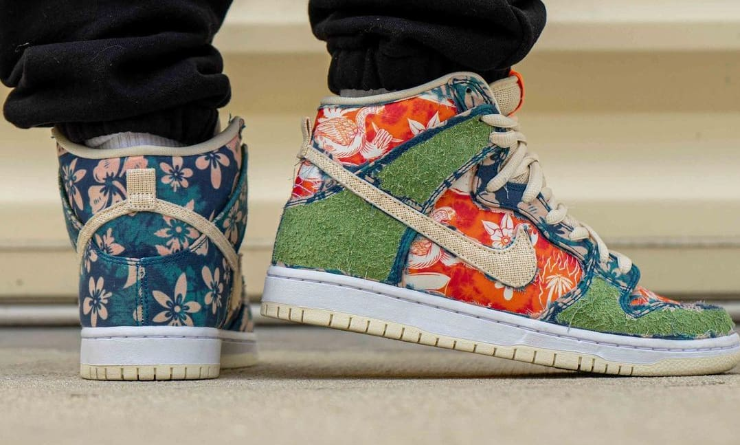Nike SB Dunk High 'Maui Wowie' Sail/Blue/Green Aqua CZ2232-300 (Side)