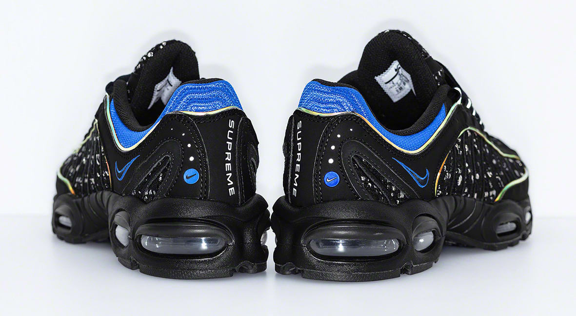 big sale 820c0 045fa Image via Supreme Supreme x Nike Air Tailwind 4  Black Blue  (Heel)