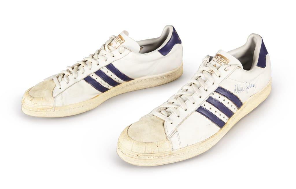 Adidas Kareem Abdul-Jabbar Game-Worn Sneakers Sotheby's