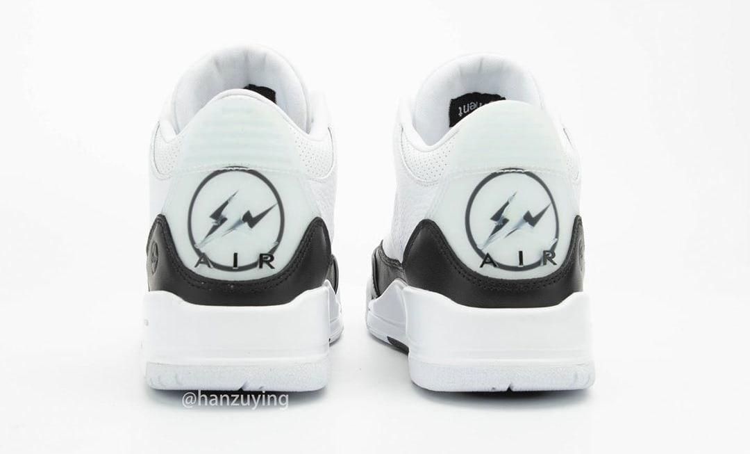 Fragment x Air Jordan 3 Retro DA3595-100 Heel