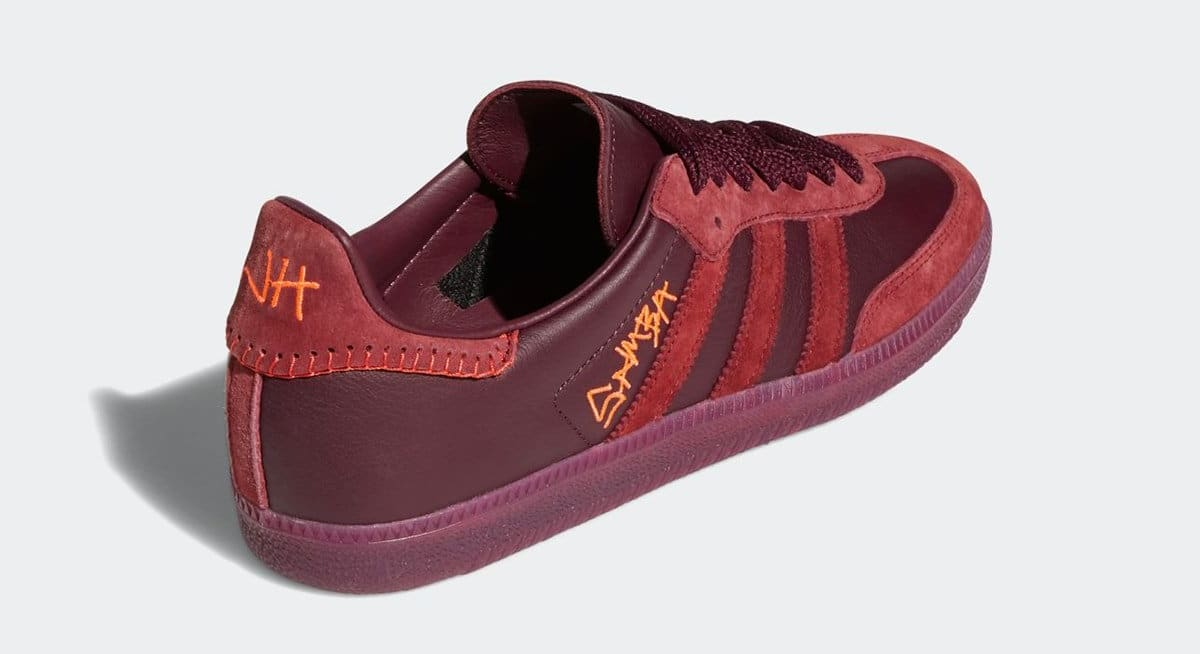 Jonah Hill x Adidas Samba 'Burgundy' FW7456 Heel