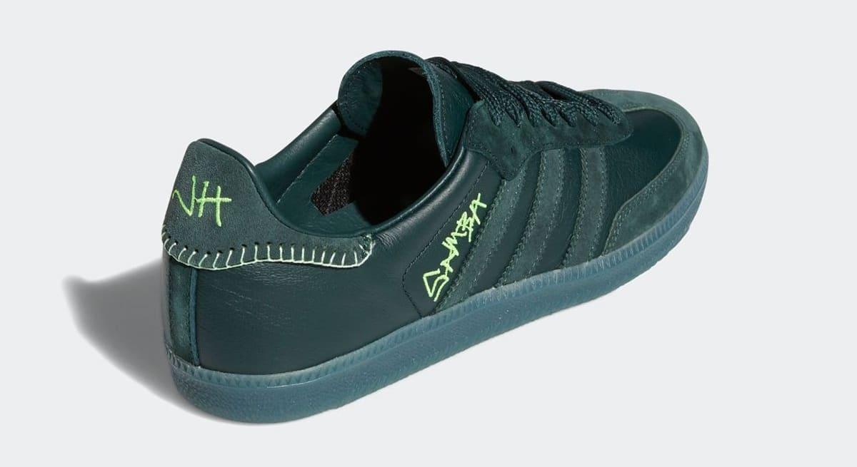 Jonah Hill x Adidas Samba 'Green' FW7458 Heel