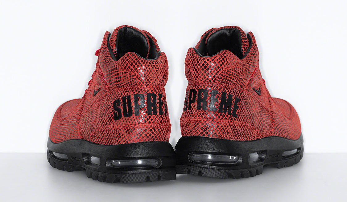 Supreme x Nike Air Max Goadome Red Heel