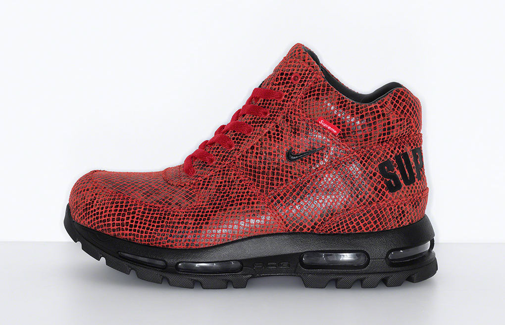 Supreme x Nike Air Max Goadome Red Lateral