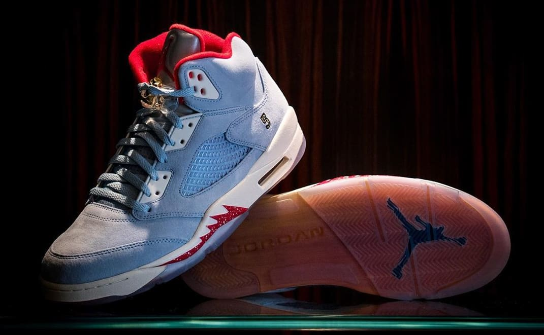Trophy Room x Air Jordan 5 'Ice Blue' (Pair)