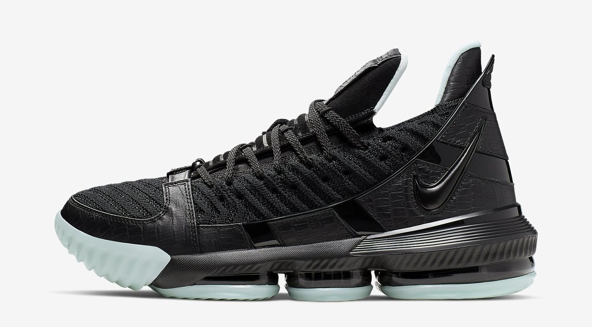 new product b428e cc8ad Nike LeBron 16 SB  Black Glow  (Lateral)