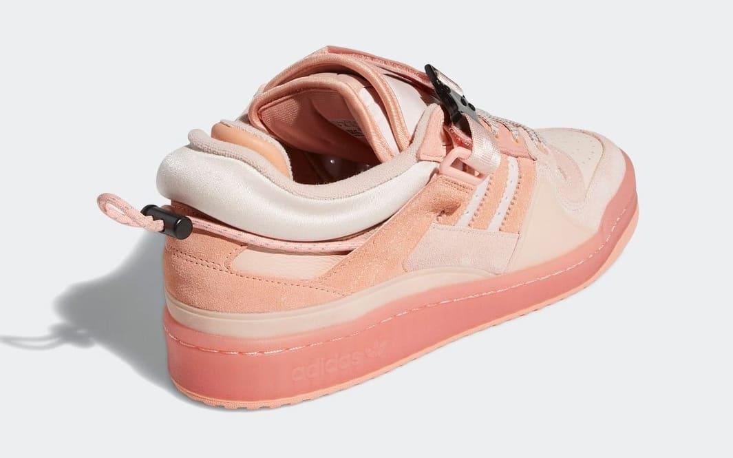 Bad Bunny x Adidas Forum Buckle Low Pink GW0265 Heel