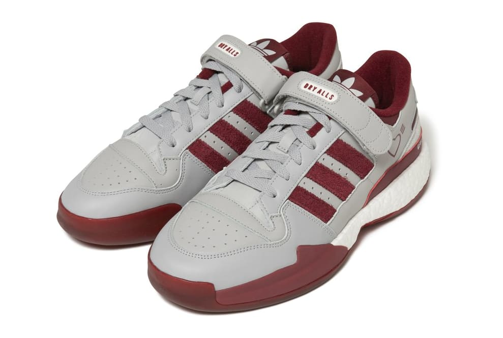 Human Made x Adidas Forum Lo Red/Grey Front