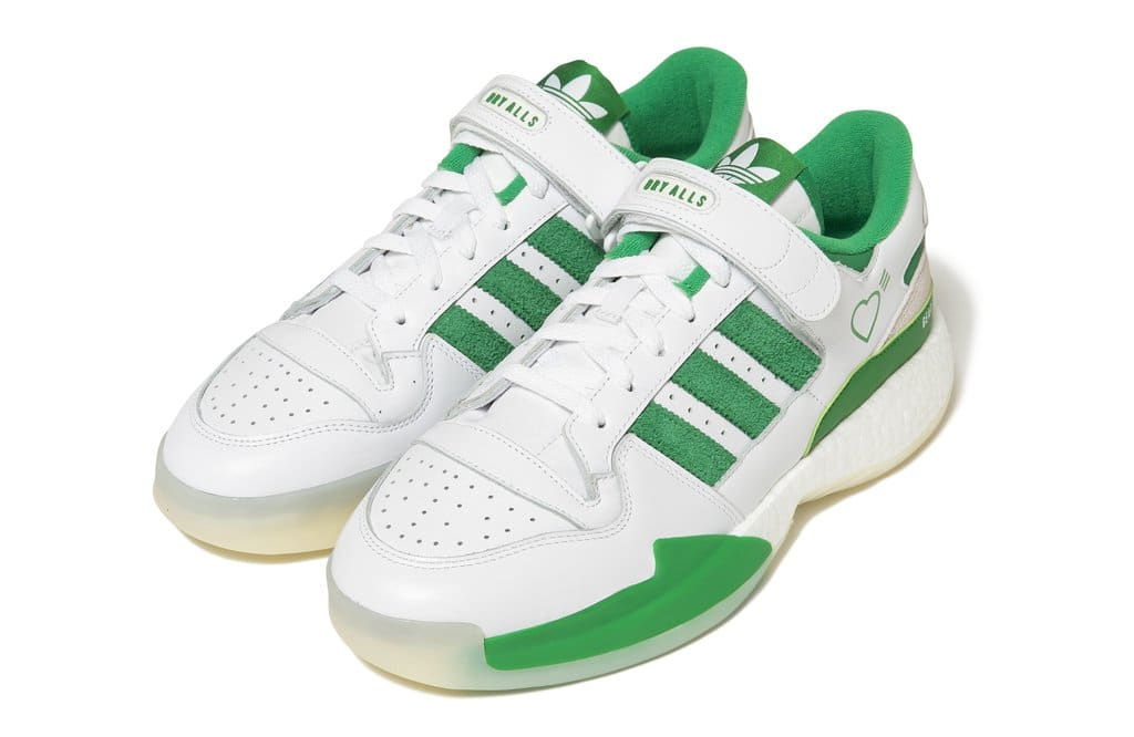 Human Made x Adidas Forum Lo White/Green Front