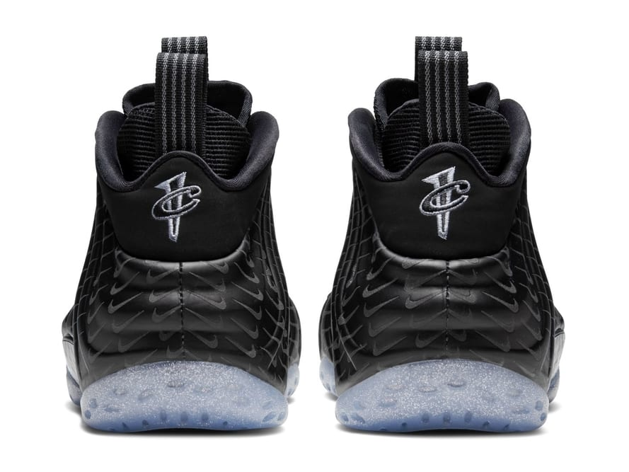 Nike Air Foamposite One Black Swoosh Release Date Heel