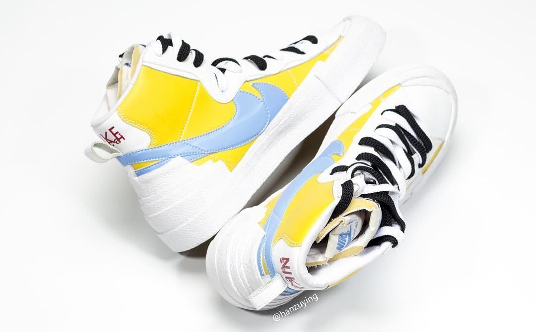 sacai x Nike Blazer High Yellow