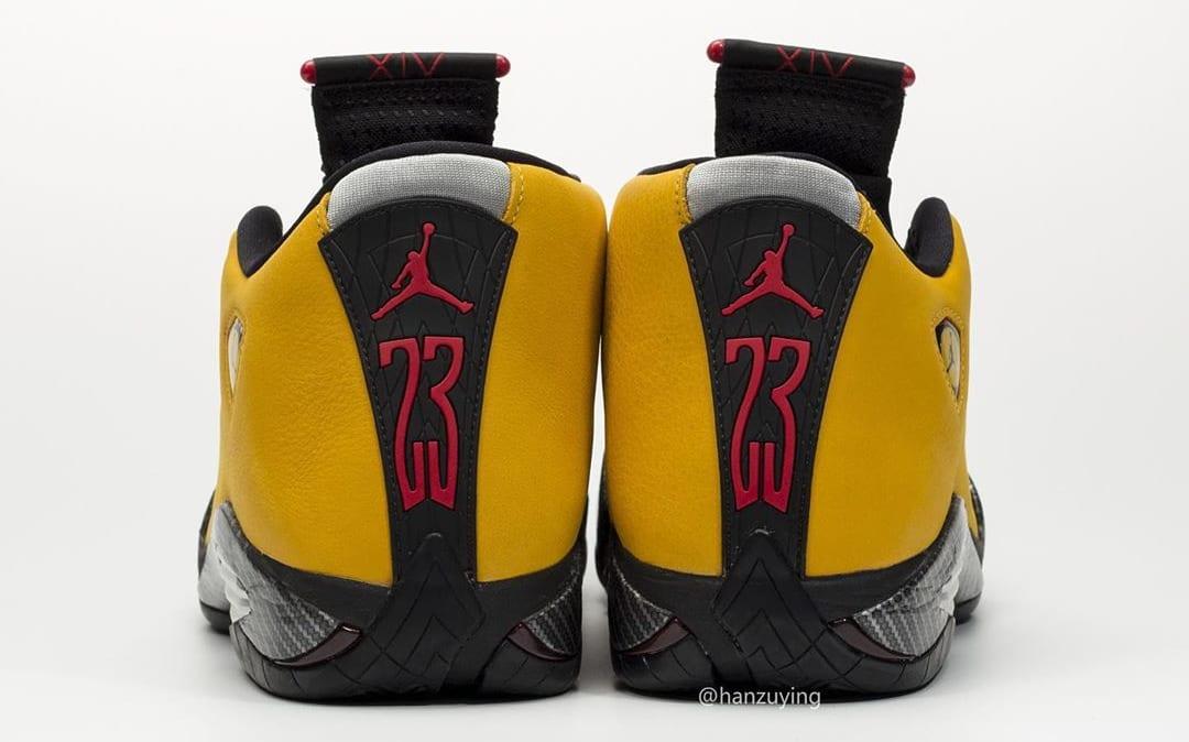 Air Jordan 14 Retro 'Yellow Ferrari' BQ3685-706 Heel