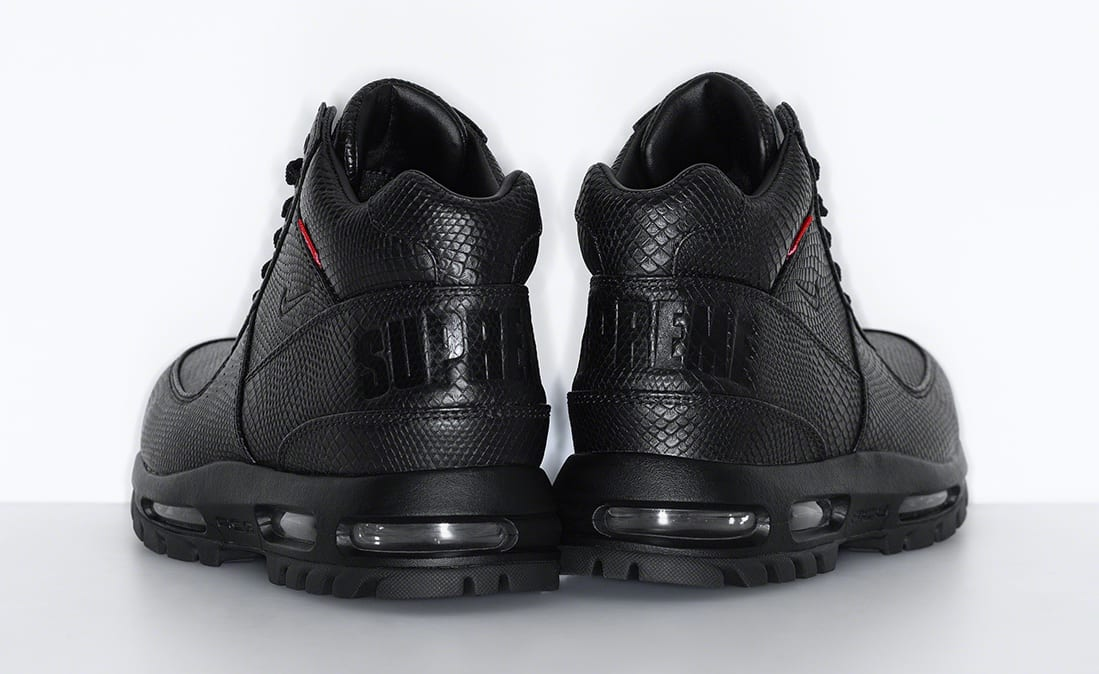 Supreme x Nike Air Max Goadome Black Heel