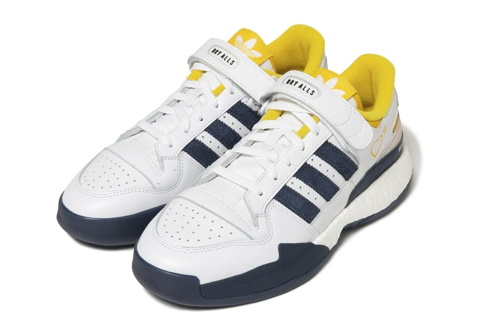 Human Made x Adidas Forum Lo White/Navy Front