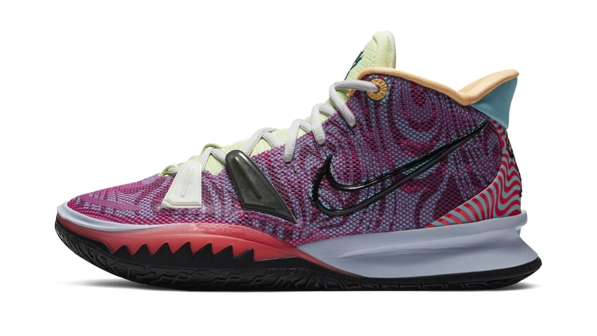 Nike Kyrie 7 Active Fuchsia/Black-Ghost-Multi-Color 'Hendrix' DC0588-601 Lateral