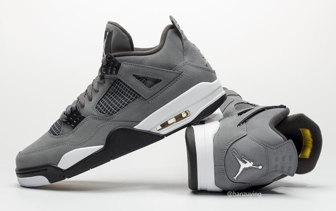 Air Jordan 4 IV Cool Grey 2019 Release Date 308497-007 Heel Profile