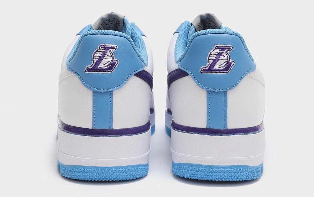 Nike Air Force 1 Low Lakers MPLS Release Date Heel