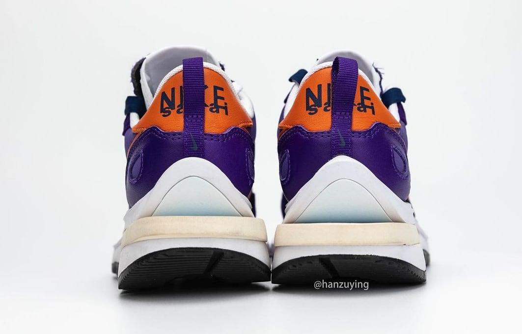 Sacai x Nike Vaporwaffle 'Dark Iris/Campfire Orange-White' Heel