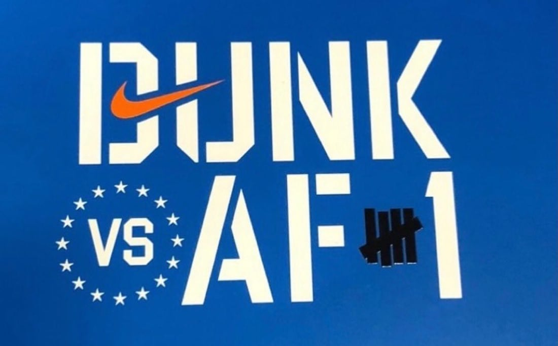 Undefeated x Nike Dunk Low 'Dunk vs AF1' Insole