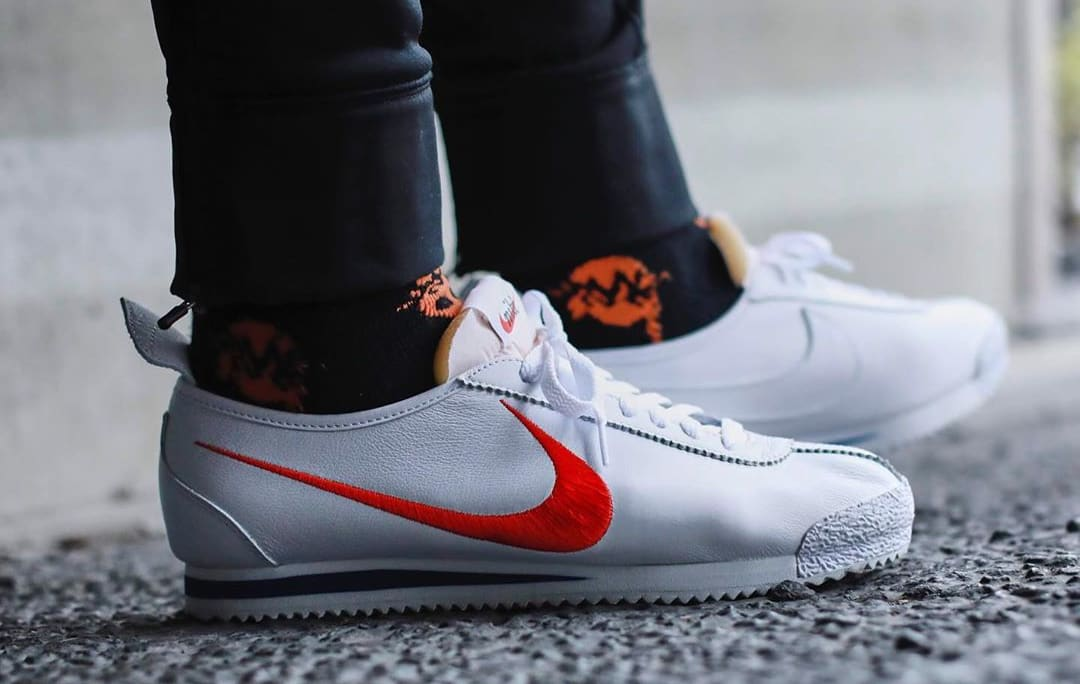 Shoe Dog x Nike Cortez '72 'Swoosh' (On-Foot Lateral)