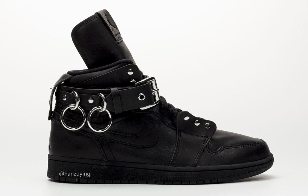 Comme Des Garcons x Air Jordan 1 'Black' CN5738-001 Lateral