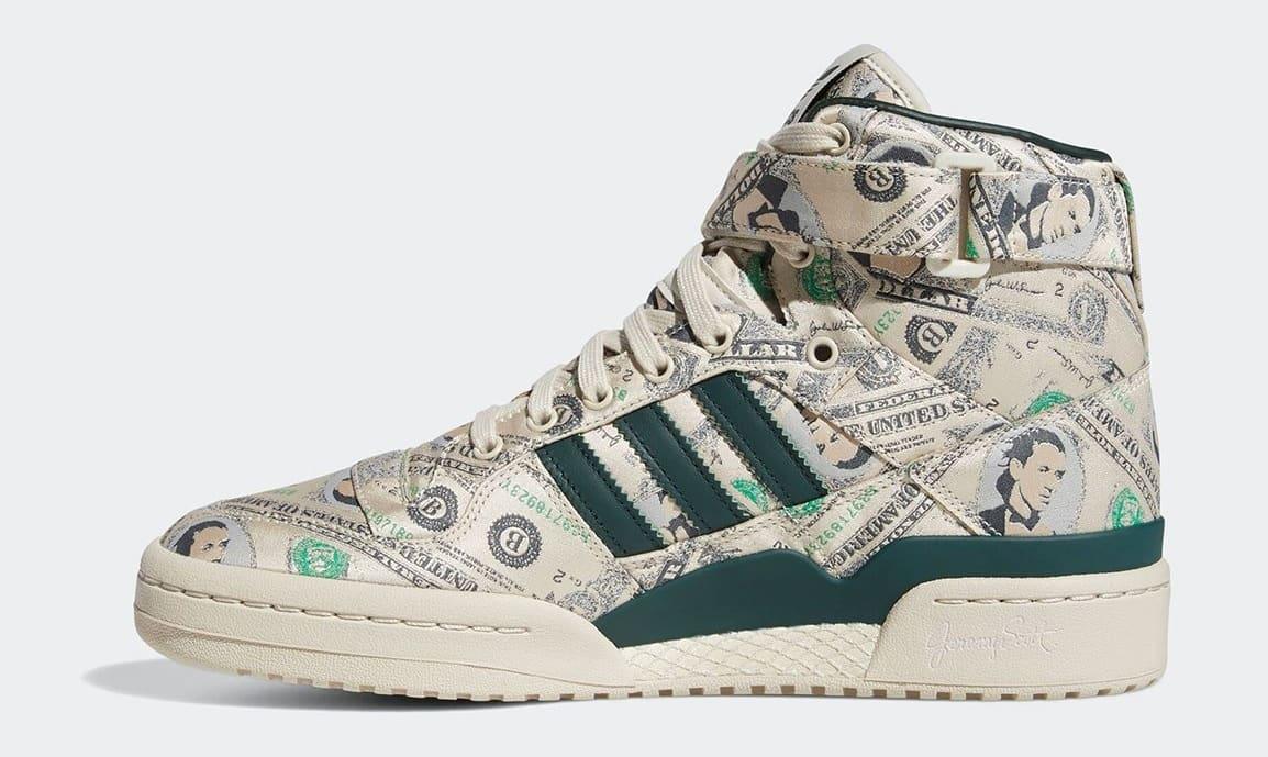 Jeremy Scott x Adidas Forum High Wings 'Money' Q46154 Medial