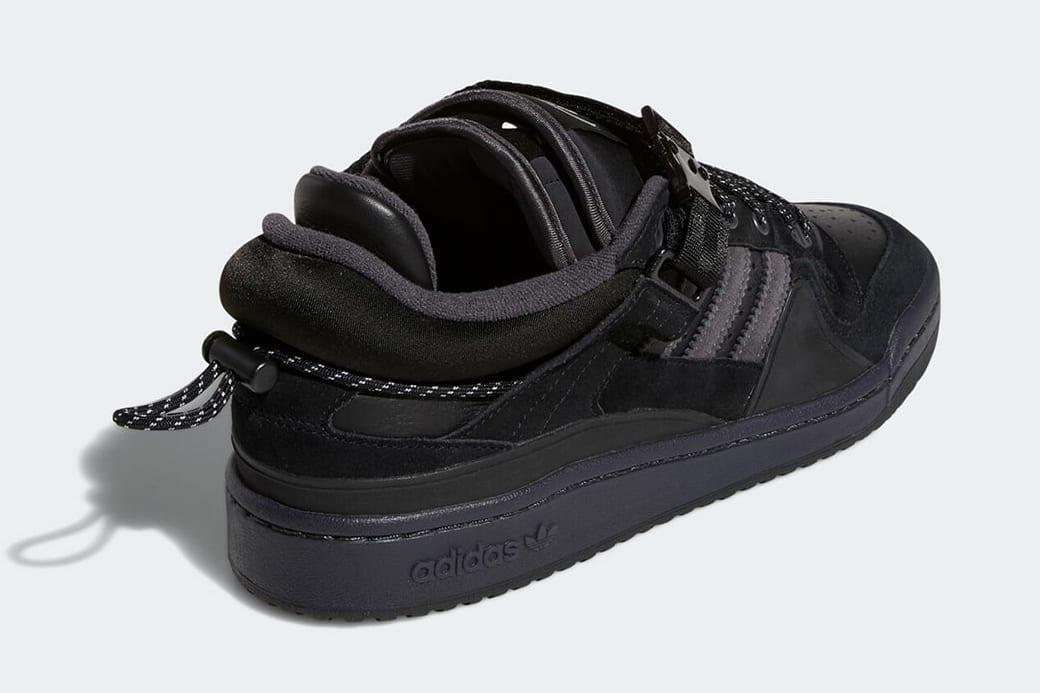 Bad Bunny x Adidas Forum Low Black GW5021 Heel