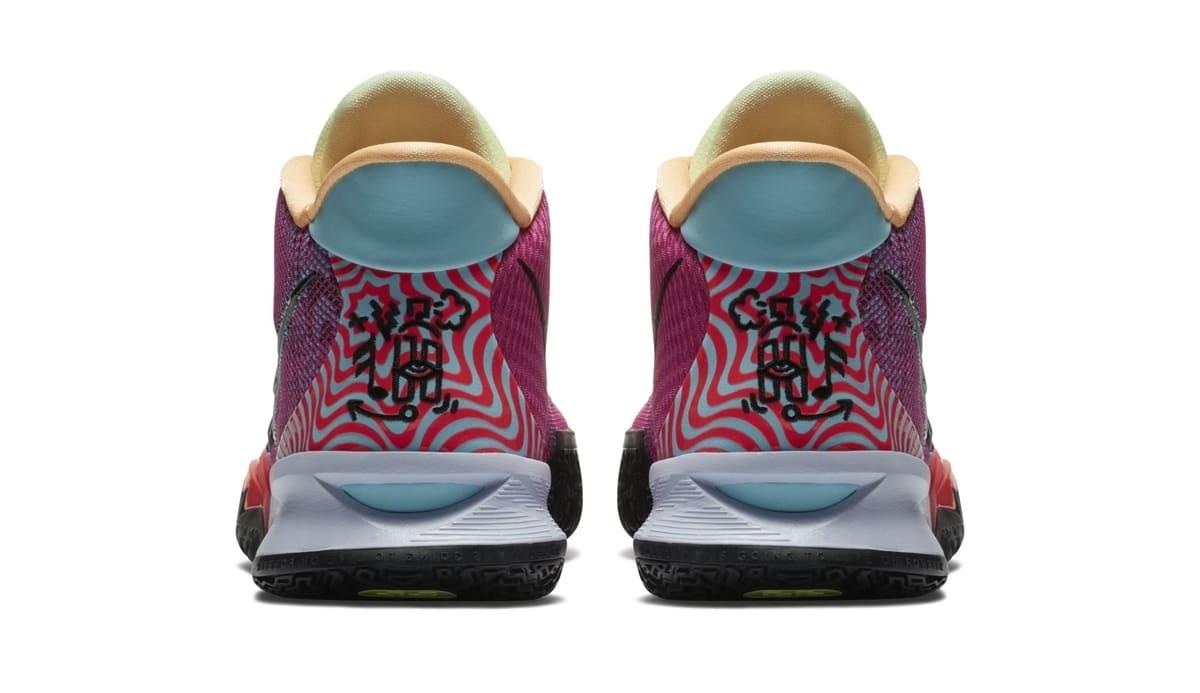 Nike Kyrie 7 Active Fuchsia/Black-Ghost-Multi-Color 'Hendrix' DC0588-601 Heel