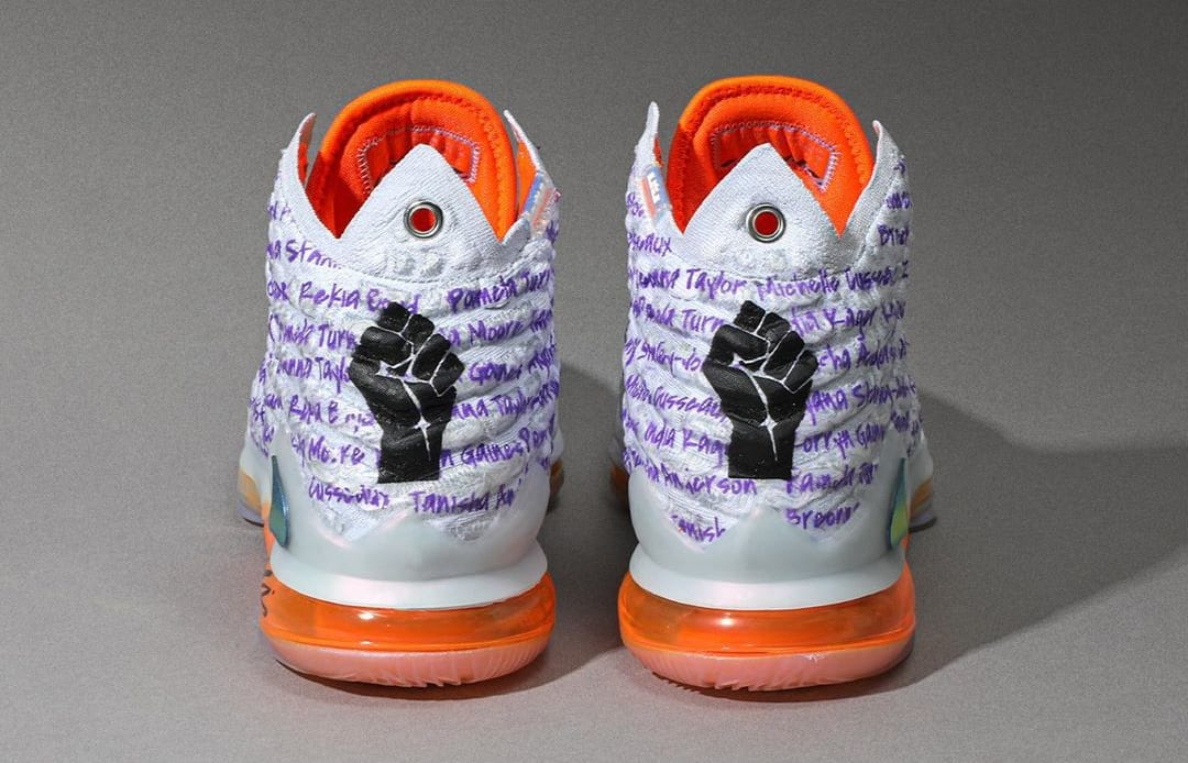 Diana Taurasi Nike LeBron 17 Custom Heel