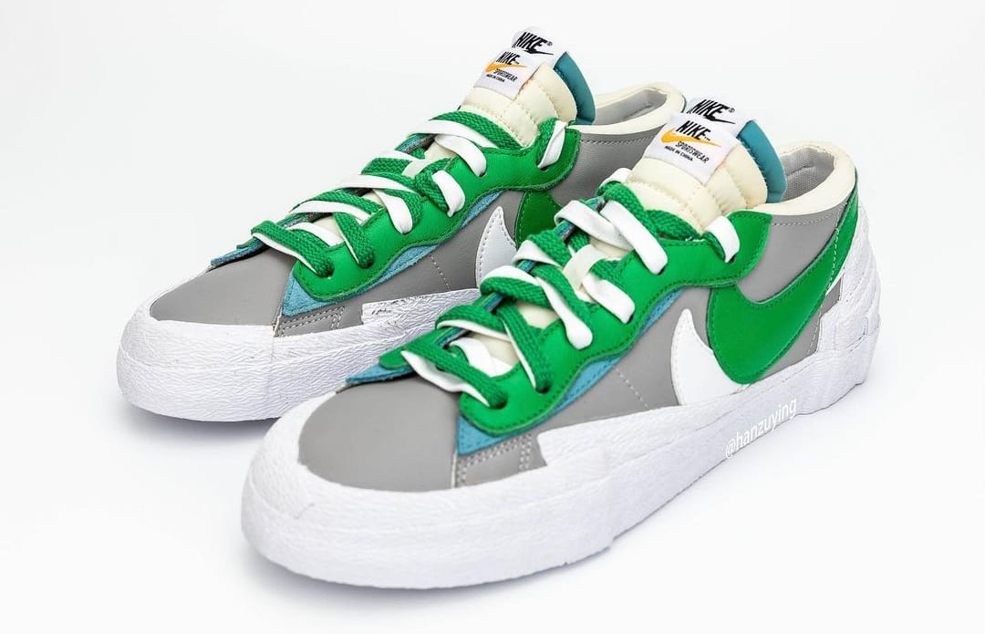 Sacai x Nike Blazer Low 'Classic Green' DD1877-001 Pair