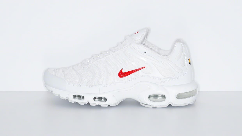 Supreme x Nike Air Max Plus 'White' Lateral