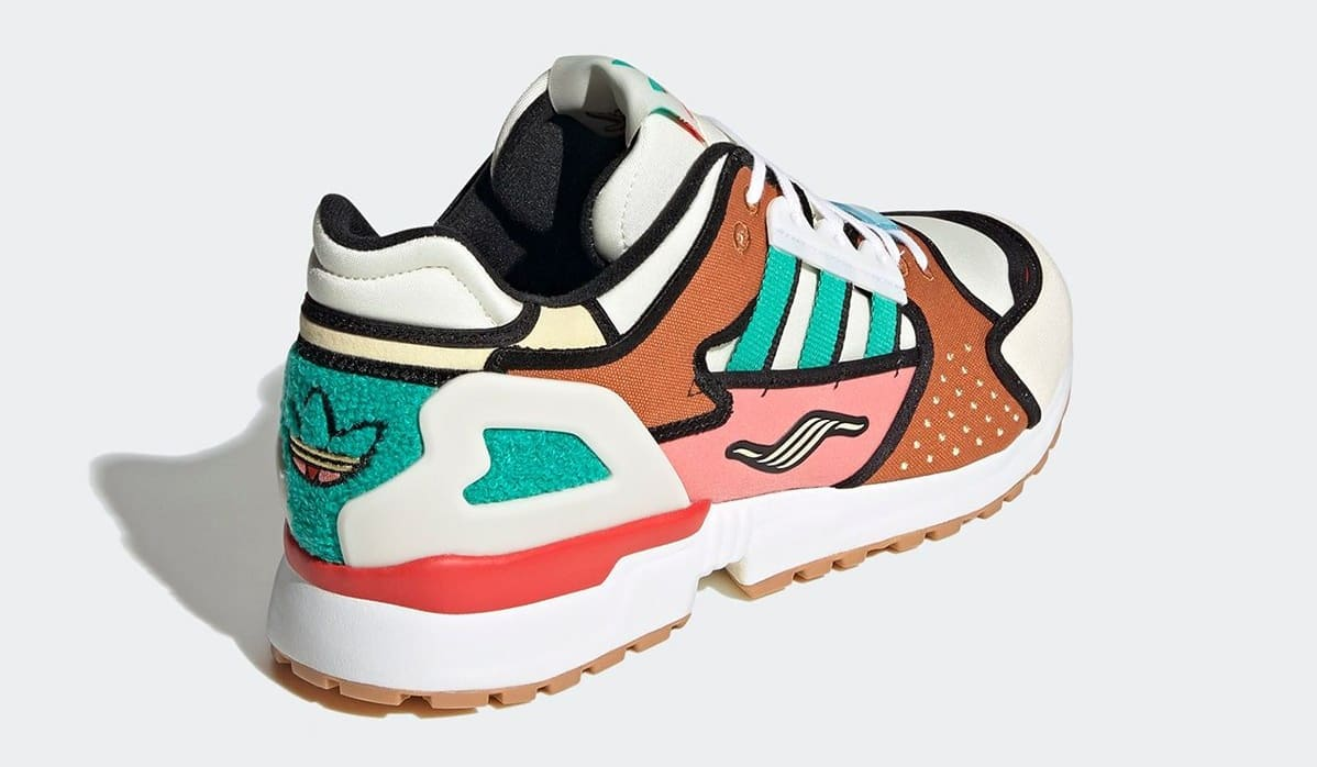 The Simpsons x Adidas ZX 10000 'Krusty Burger' H05783 Heel